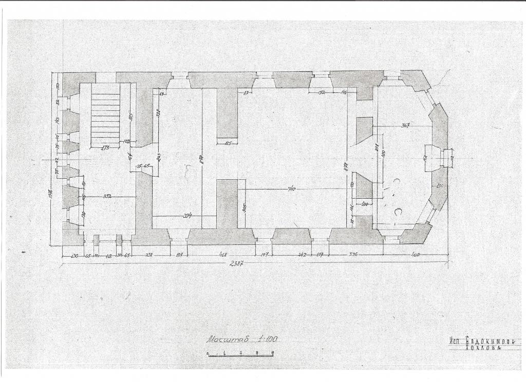 Алексеевская церковь. План 1946 г. ГНИМА.